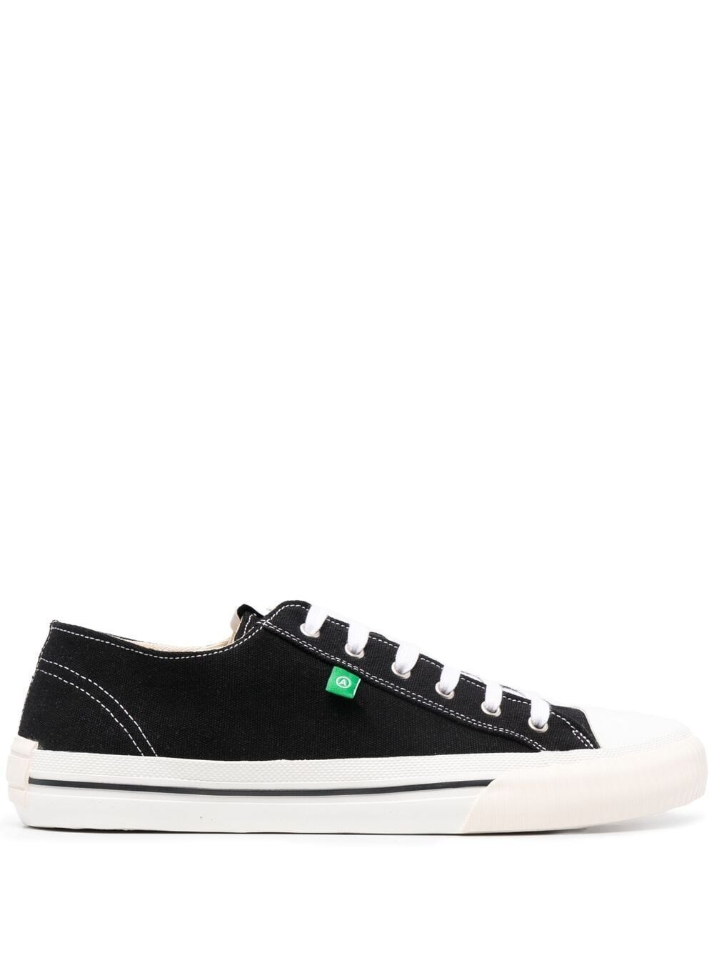 Midnight Low Black Fabric Sneakers