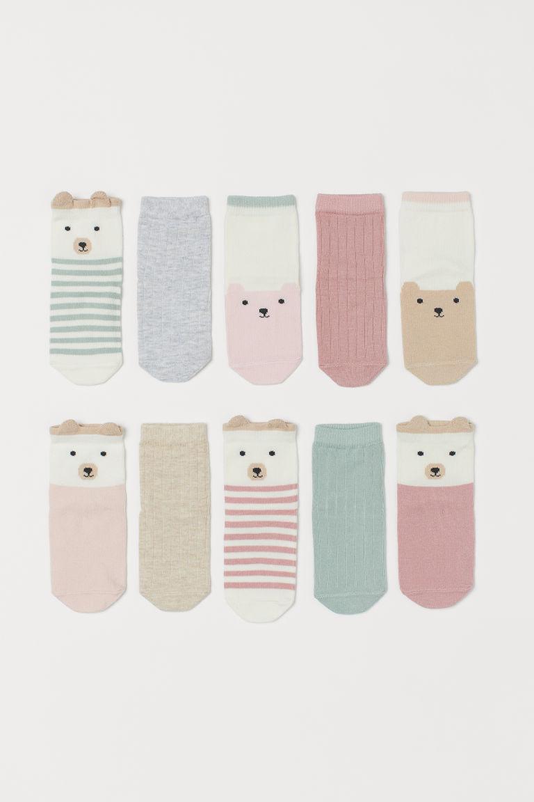 H & M - 10雙入襪子 - 粉紅色