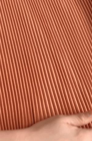 韓國空運 - Er Orange pleated Dress 長洋裝