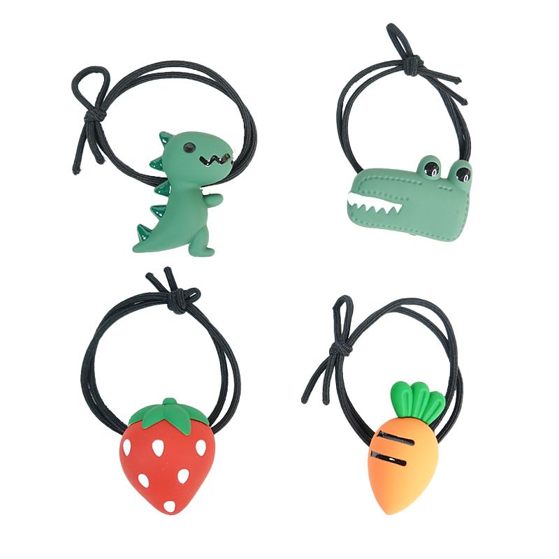 【貝麗瑪丹】造型髮束 恐龍/蔬果 髮圈 髮繩 扎頭髮 綁髮 女生 飾品 恐龍 胡蘿蔔 草莓