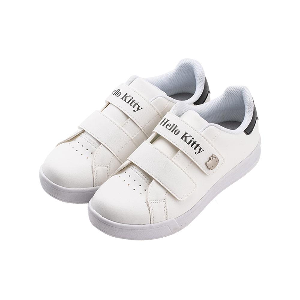 HELLO KITTY艾樂跑女鞋-魔鬼氈休閒鞋 板鞋-白/黑 (918311)