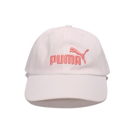 【1元限搶】PUMA 男女 基本系列 刺繡LOGO 可調式棒球帽 白粉橘 - 02241640