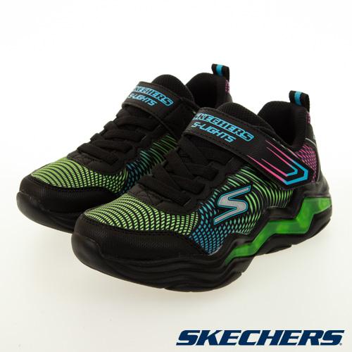 SKECHERS 男童系列 ERUPTERS IV 燈鞋 - 400125LBKMT