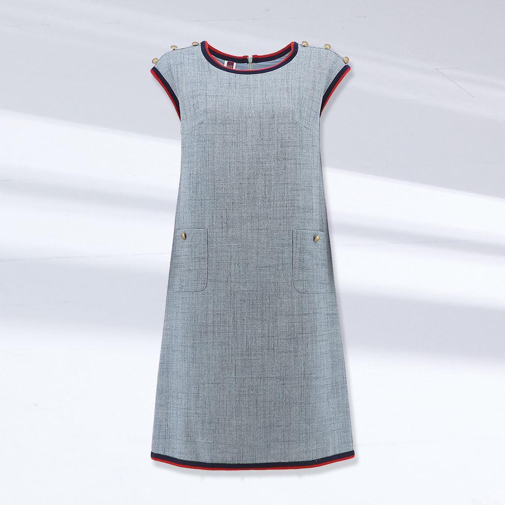 ILEY伊蕾 小香風無袖修身洋裝(灰)1212017583