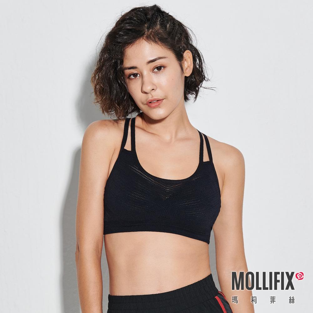 MOLLIFIX 瑪莉菲絲 A++活力雙肩帶舒活BRA_(黑)