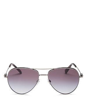 Valentino Women's Brow Bar Aviator Sunglasses, 57mm