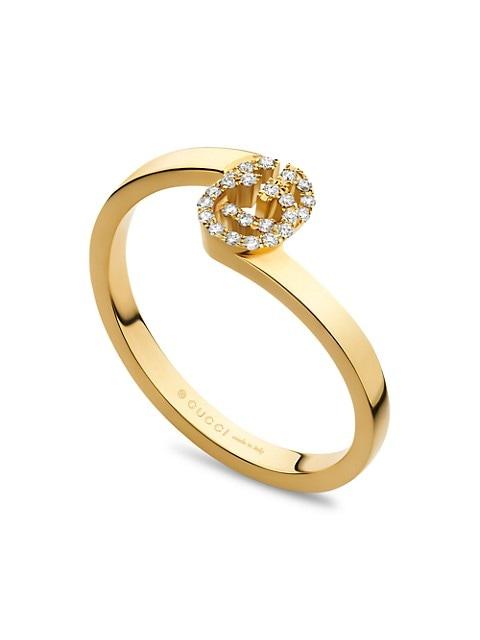 GG Running 18K Yellow Gold & Diamond Ring