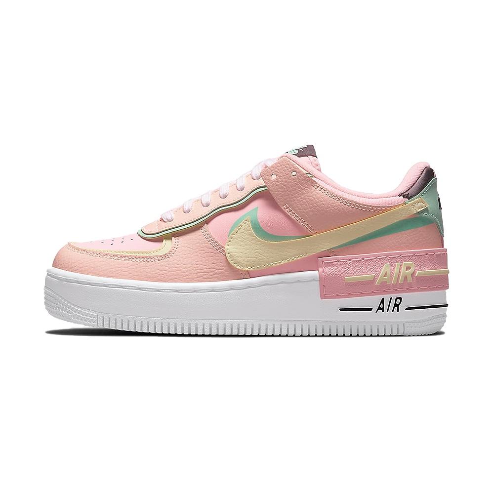 Nike Air Force 1 Shadow 女 粉綠 馬卡龍 運動 休閒鞋 CU8591-601