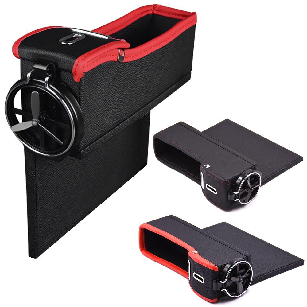 貼心設計好收納!! 車上杯架置物盒 車用多功能置物盒 機 皮夾 零錢 飲料架 收納方便