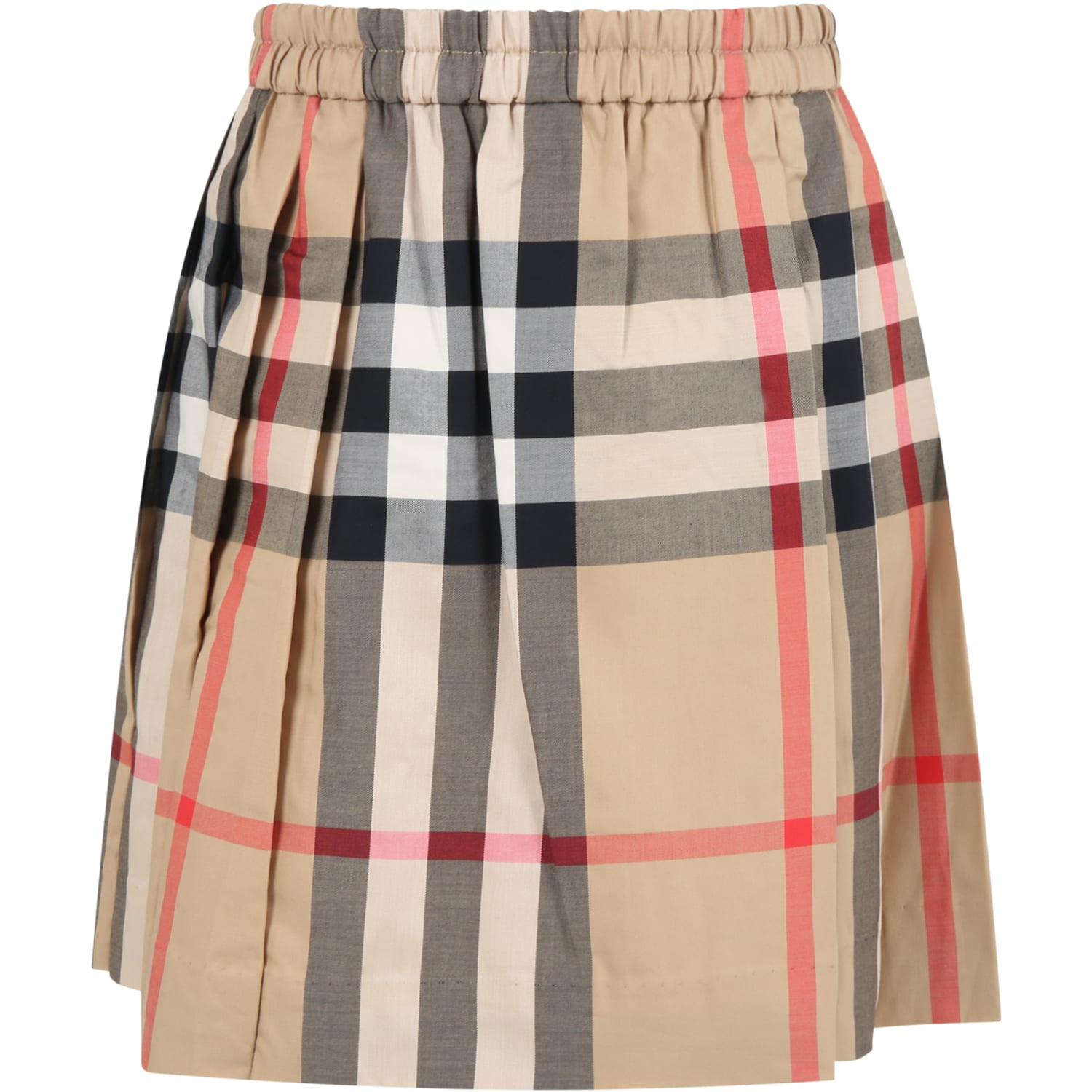 Burberry Beige Skirt For Girl With Check Vintage