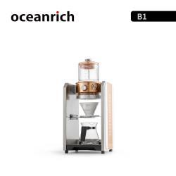 『環球嚴選』單聯2杯份 Oceanrich義大利式商用/家用型精萃自動旋轉咖啡機/手沖滴漏咖啡機/轉速調節/流速調節/半自動泵壓式 AB0018