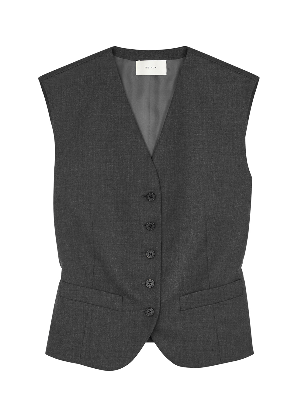 Vega dark grey wool waistcoat