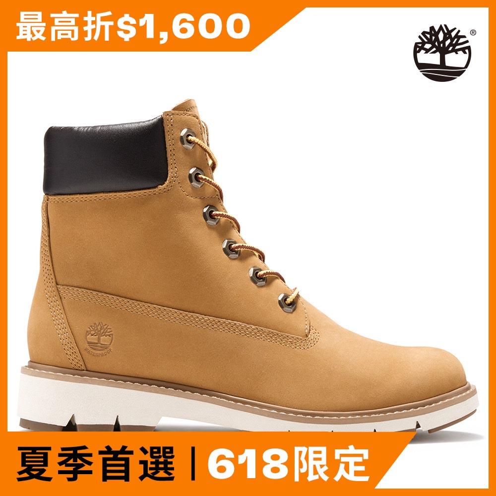 Timberland 女款小麥黃磨砂革中筒靴 A1T6U231