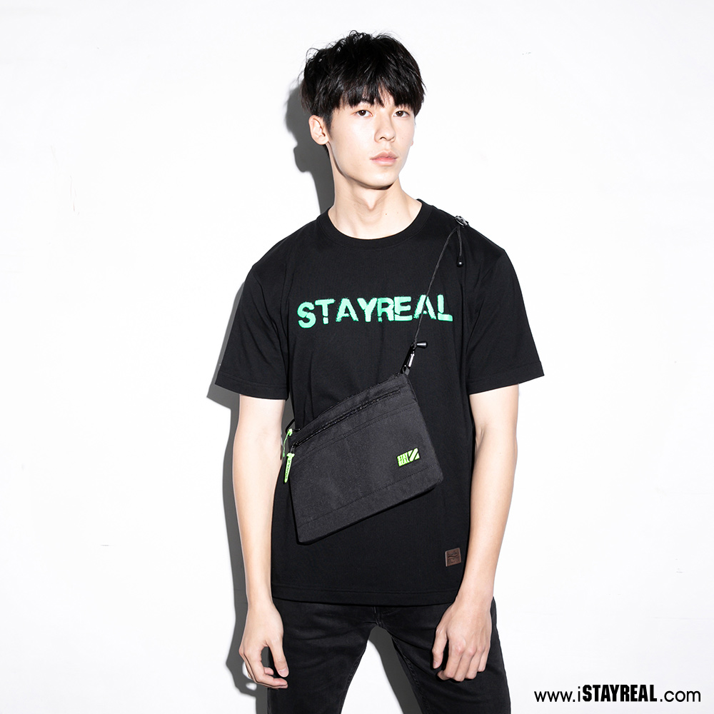 STAYREAL Neon口袋側背包
