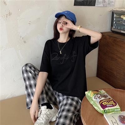 大碼短T~顯瘦上衣短袖T恤4F-D070-C 胖妞衣櫥