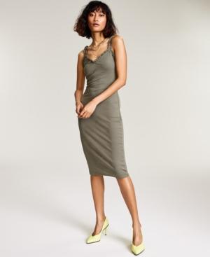 Bar Iii Ribbed Midi Dress, Created for Macy's