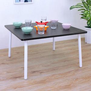 【頂堅】正方形和室桌/矮腳桌/餐桌/沙發前桌-寬80x高46公分-四色深胡桃木色