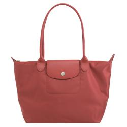 Longchamp Le Pliage 折疊長揹帶肩提包.磚紅 #2605
