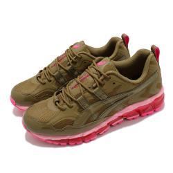 Asics 休閒鞋 Gel Nandi 360 X GmbH 男鞋 亞瑟士 聯名款 復刻 異材質拼接 亞瑟膠 棕 粉 1021A415300