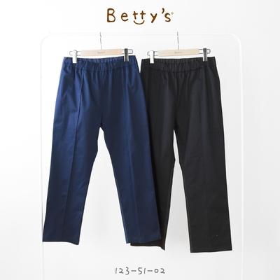 betty's貝蒂思 拼接熊熊口袋印花長褲(黑色)