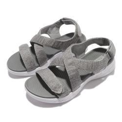 Skechers 涼鞋 On The Go 600 女鞋 避震 緩衝 輕量 回彈 魔鬼氈 舒適 灰 白 140027GRY [ACS 跨運動]