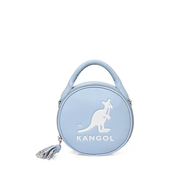 KANGOL 水藍色大LOGO側背圓包-NO.6055301181
