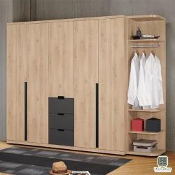【Hampton 漢汀堡】加德納8.3尺組合衣櫥