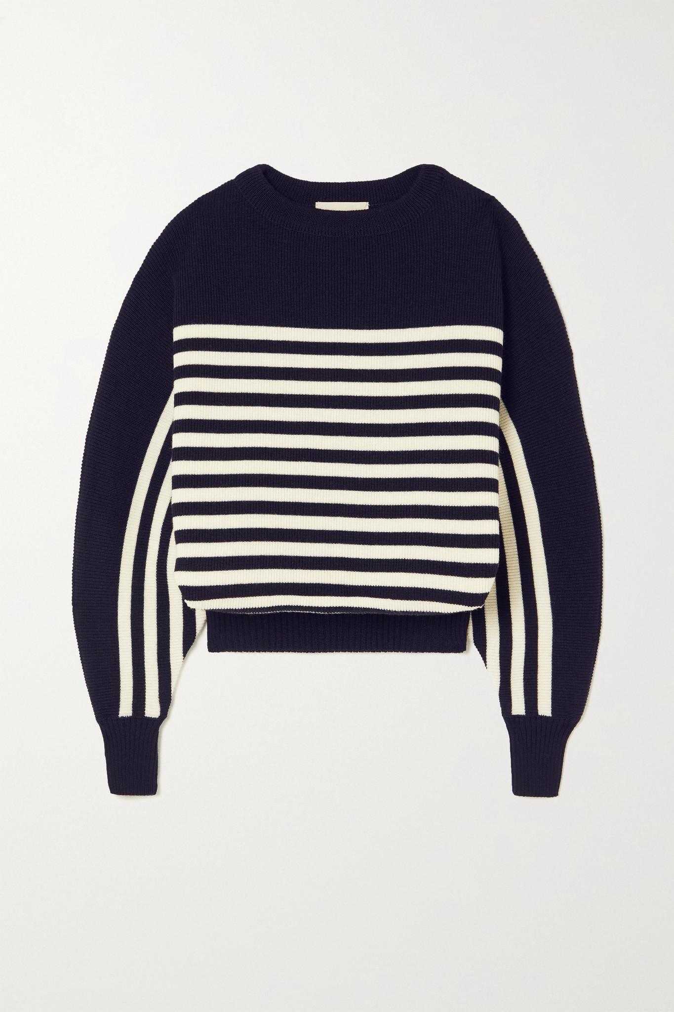 ALEXANDRE VAUTHIER - Striped Wool Sweater - Blue - medium