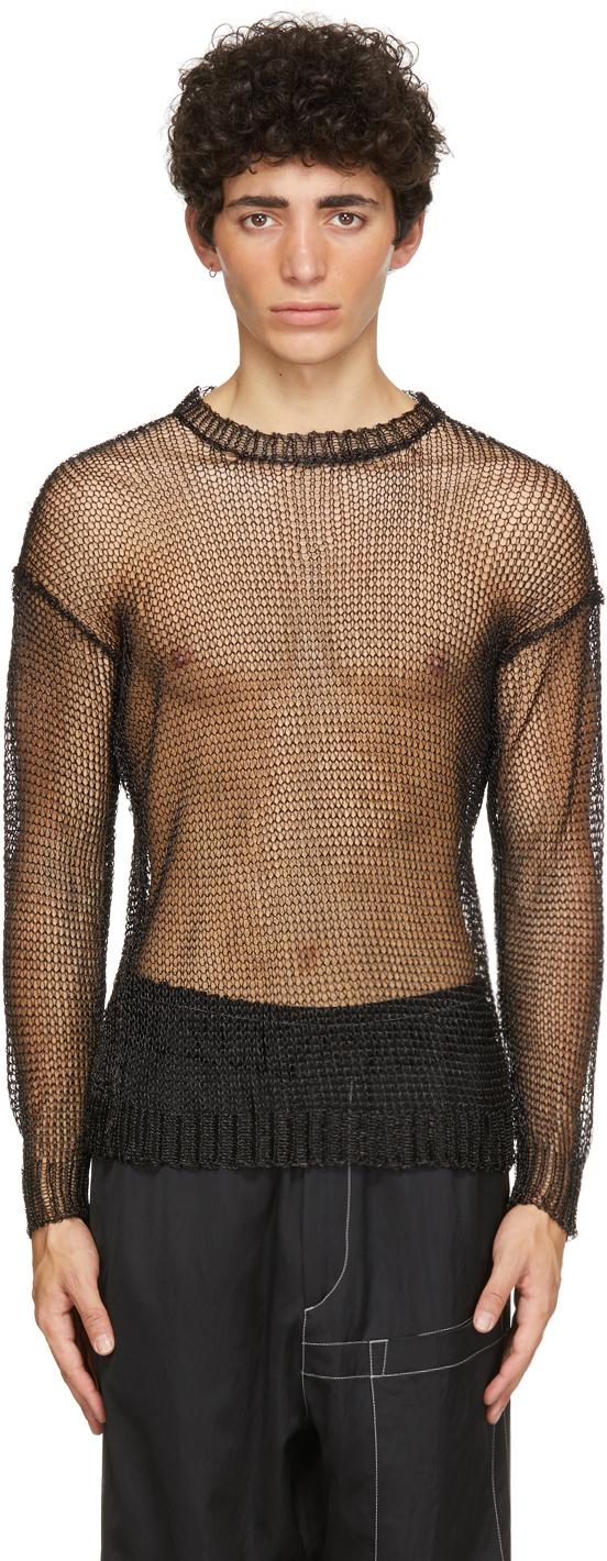 Isabel Benenato 黑色 Metal 针织衫