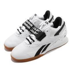 Reebok 訓練鞋 Legacy Lifter II 男鞋 健身房 重量訓練 支撐 穩定 包覆 白 黑 FU9458 [ACS 跨運動]