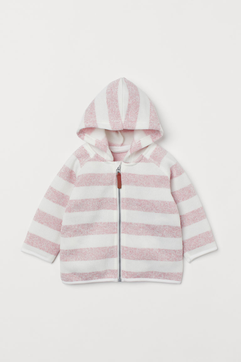 H & M - 絨毛針織外套 - 粉紅色