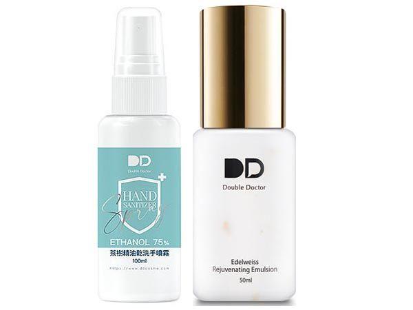 Double_Doctor~雪絨花保濕水凝乳50ml+茶樹精油乾洗手噴霧100ml 組合款【DS001772】