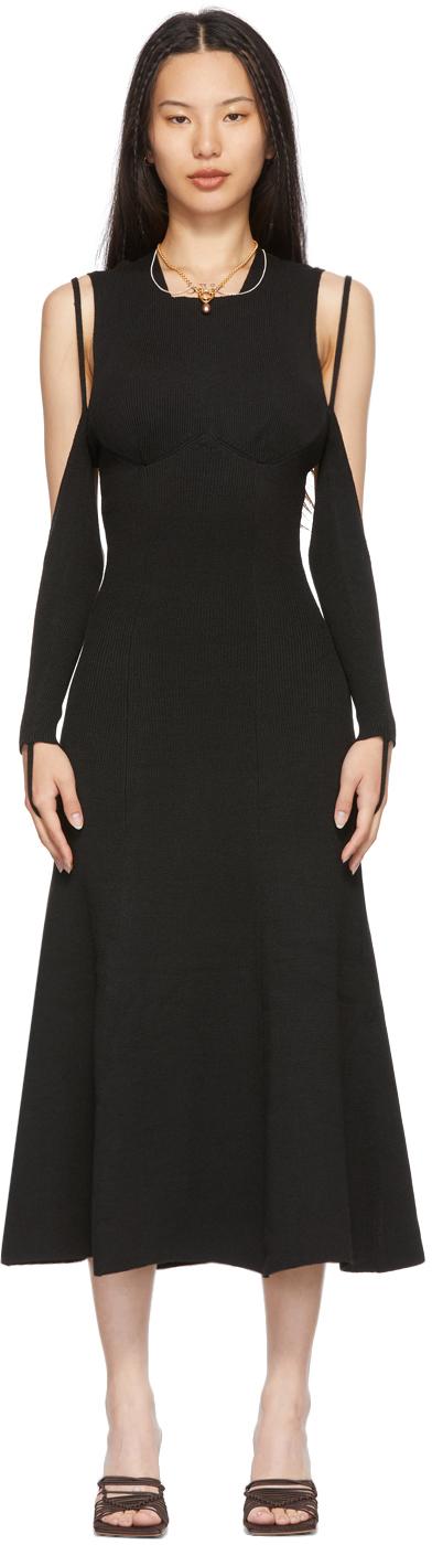 ISA BOULDER SSENSE 独家发售黑色 Visible 连衣裙