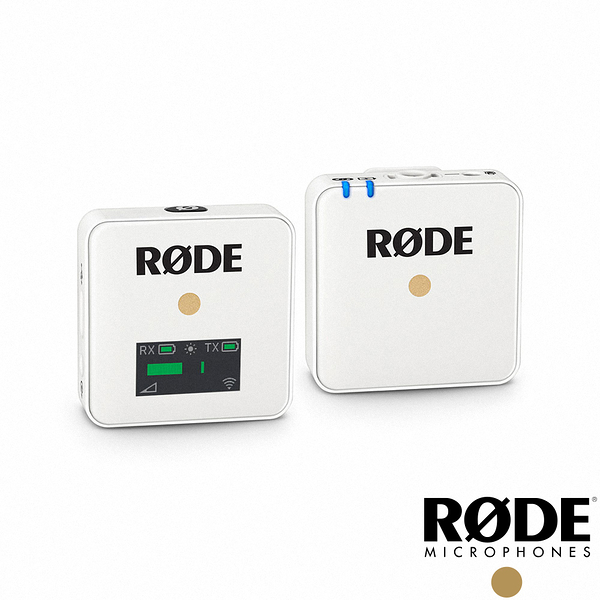 【RODE】Wireless GO 微型無線麥克風(白)