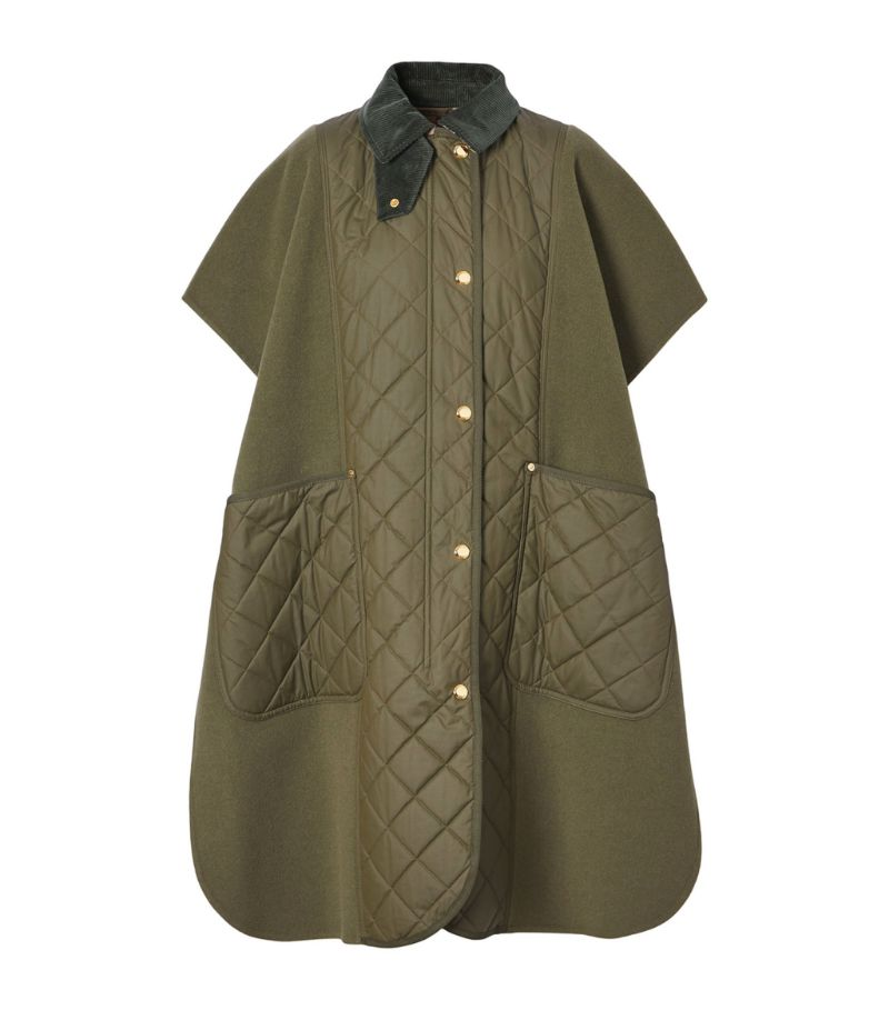 Burberry Reversible Diamond Quilted Cape