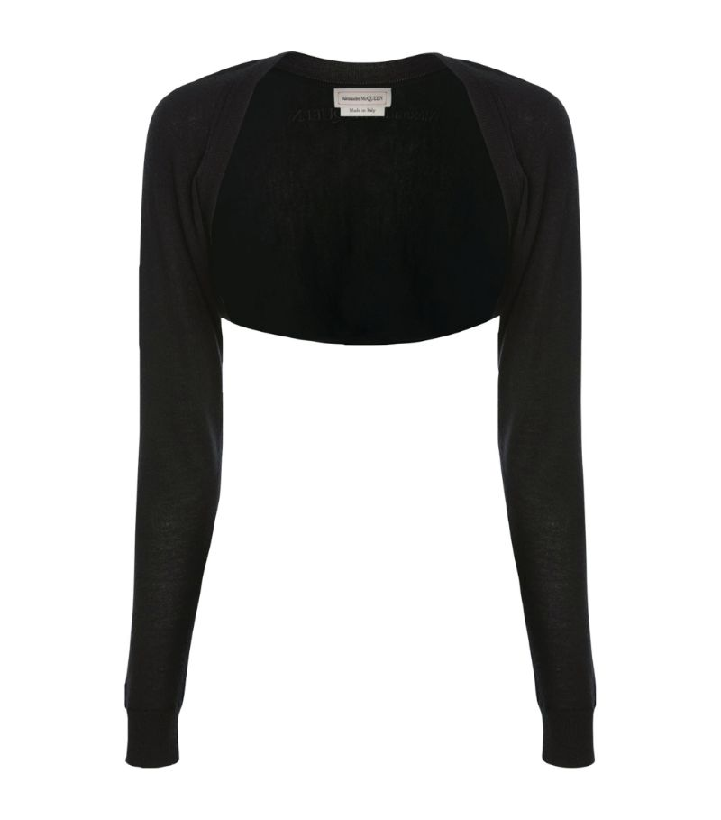 Alexander Mcqueen Cashmere Cropped Sweater