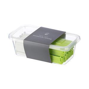 HOLA 綜合密封夾45入附收納盒(長綠20x短白25)