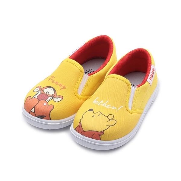 DISNEY 維尼跳跳虎套式休閒鞋 黃 中童鞋