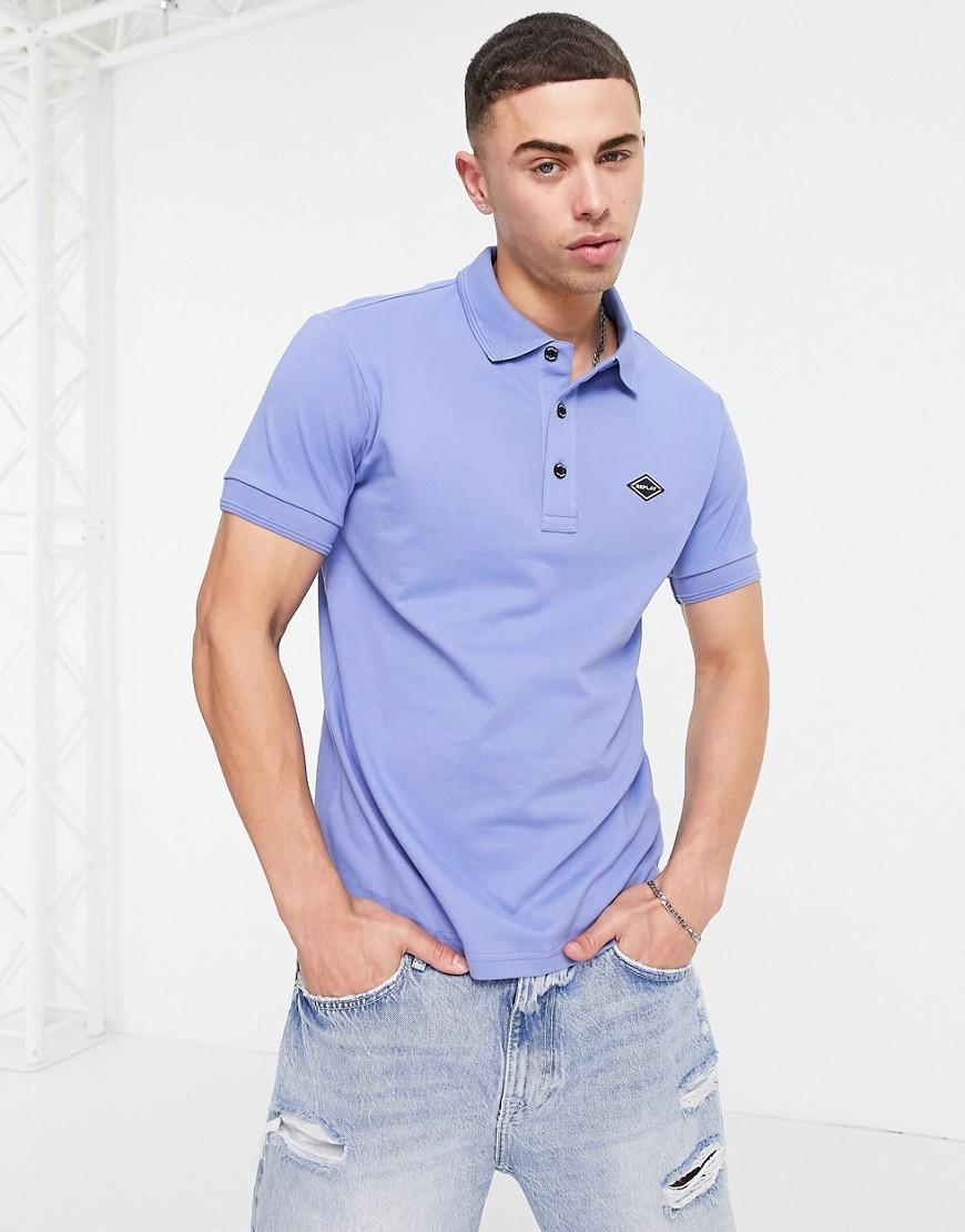 Replay logo polo shirt-Blue