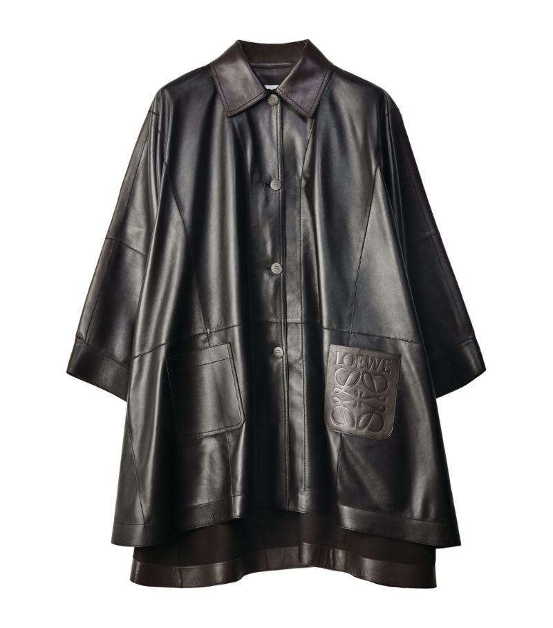 Loewe Leather Cape Coat