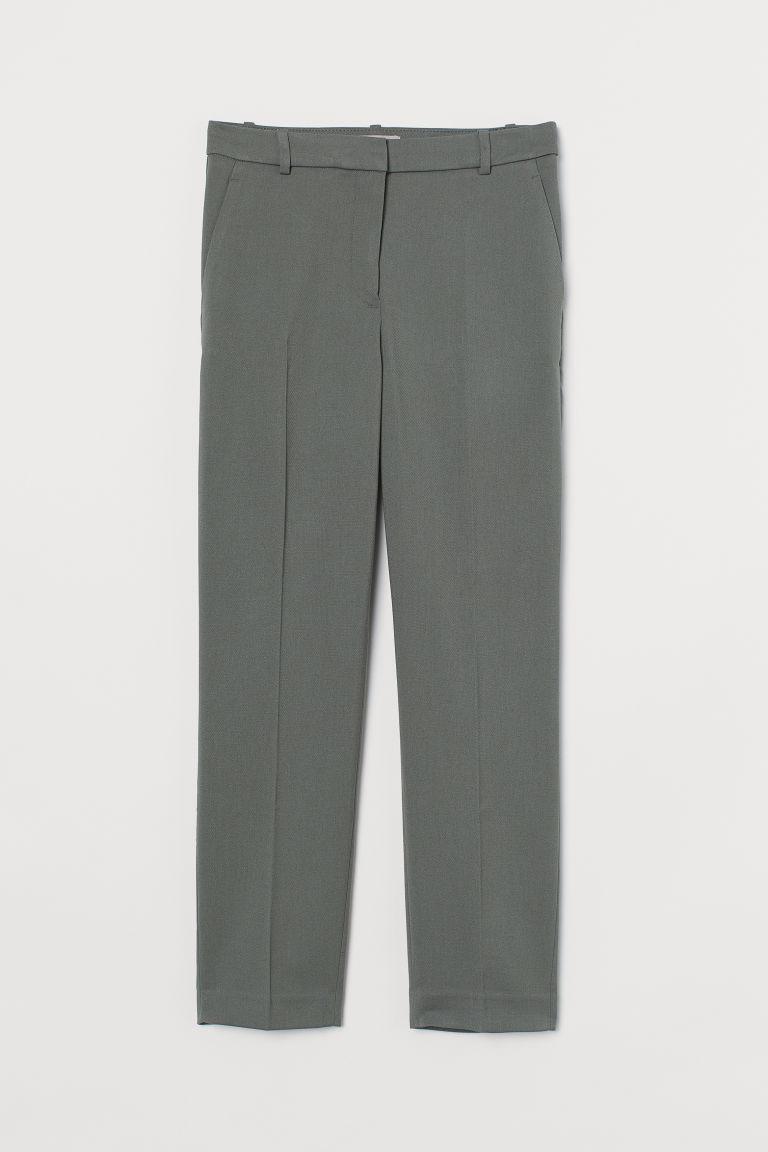 H & M - 煙管褲 - 綠色