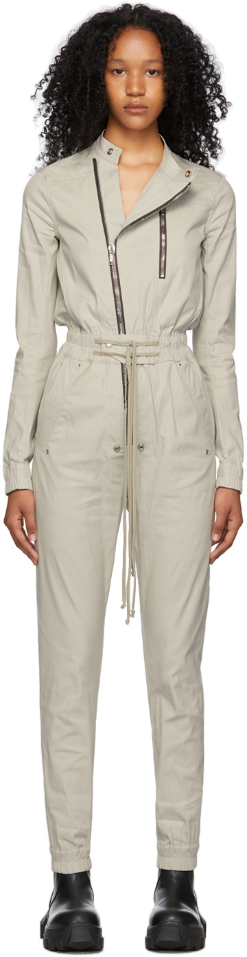 Rick Owens 灰色 Gary Flightsuit 连身裤