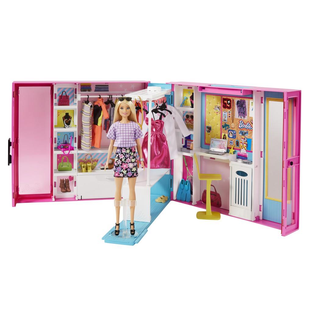 Mattel 芭比夢幻衣櫃 Barbie 家家酒 換裝 娃娃  正版 美泰兒