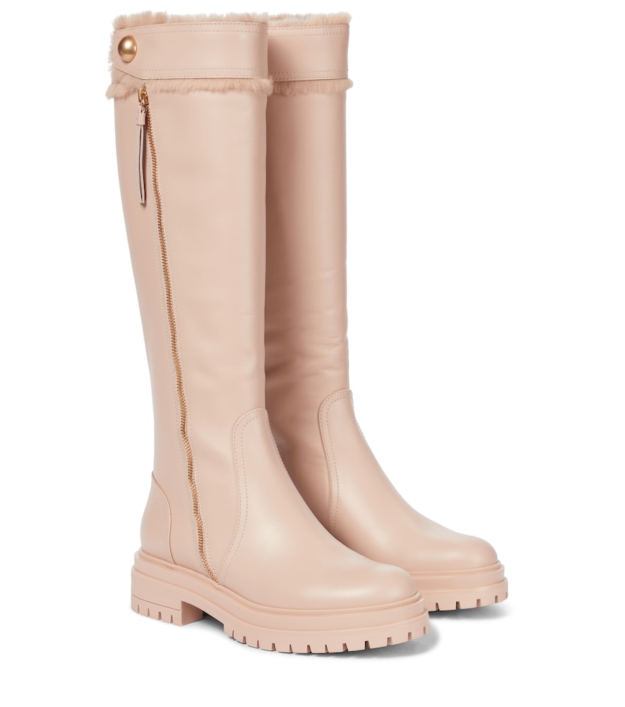 Montreal leather knee-high boots