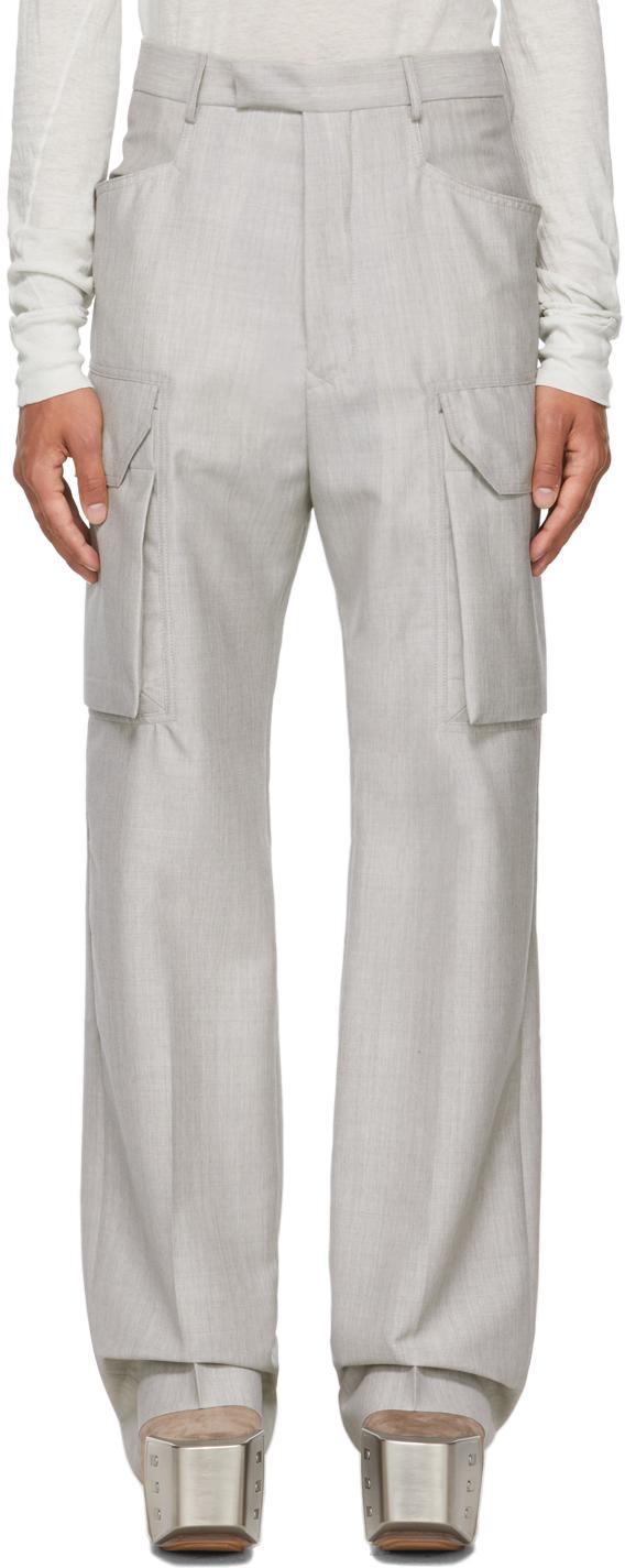Rick Owens 灰色 Flat 工装裤
