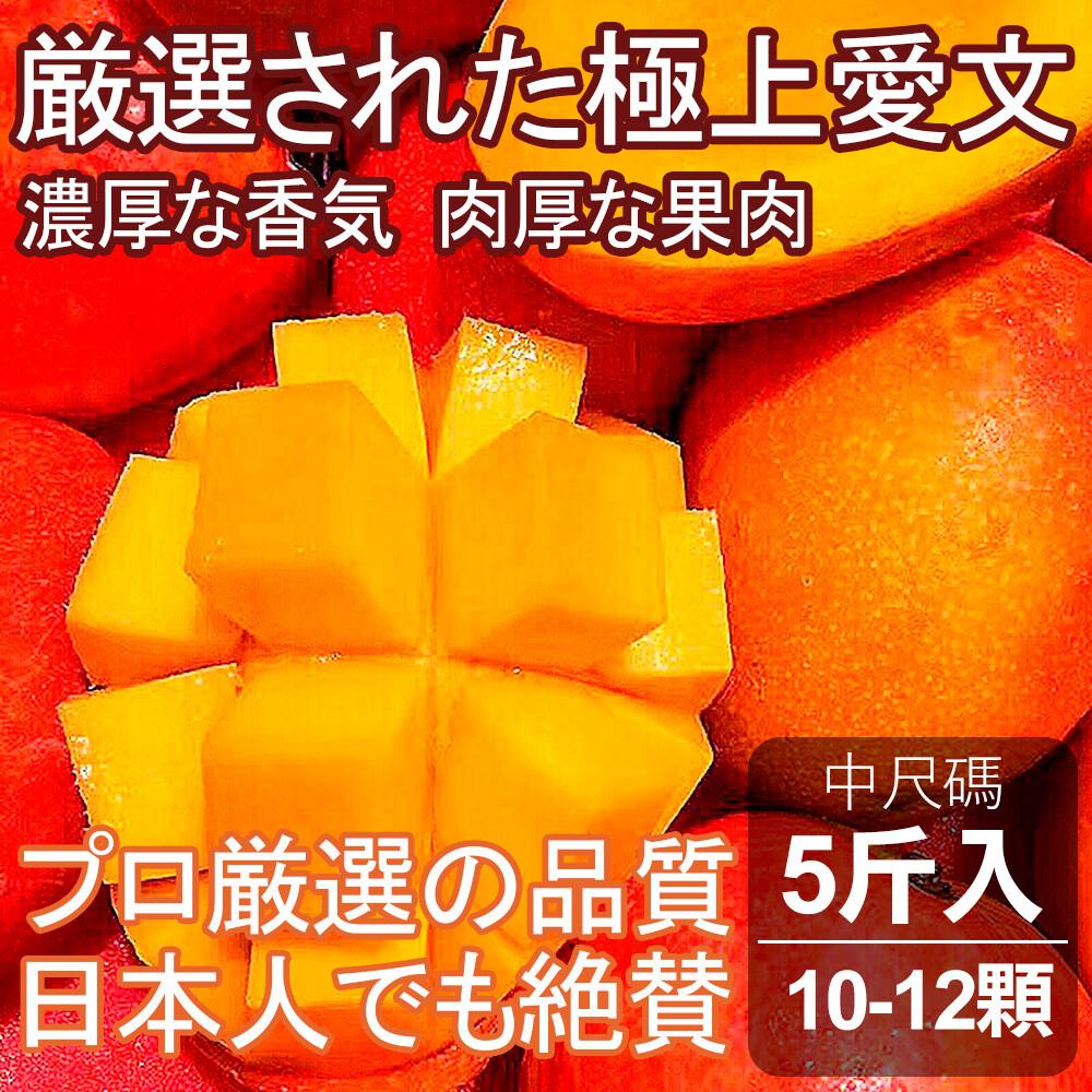 托斯卡尼小農日本直空輸規格愛文芒果-中尺碼(5斤入10-12顆)