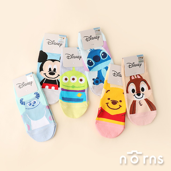 迪士尼童趣系列直版襪-Norns Disney正版 襪子 棉襪