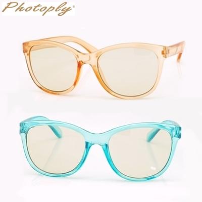 台灣製造PHOTOPLY防爆鏡片防藍光兒童眼鏡QBABY(藍光40%,紫外線100%)適小朋友青少年小資女)抗藍光眼鏡