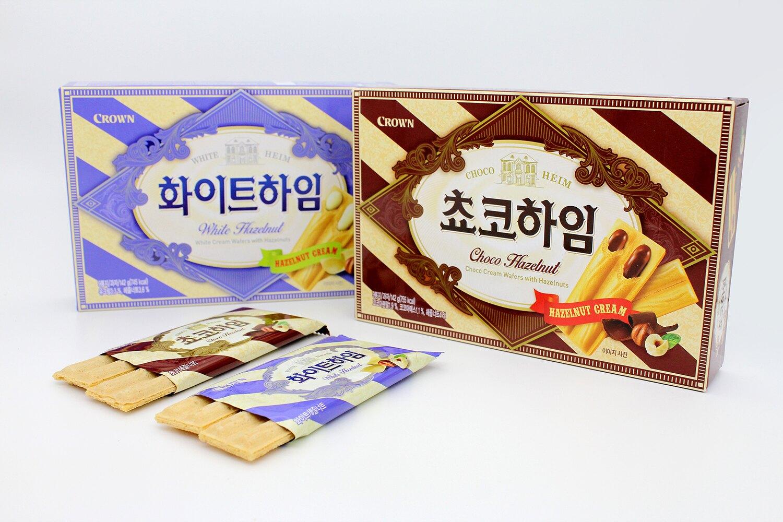 韓國 Crown 榛果奶油威化酥 韓國必買人氣餅乾 142g