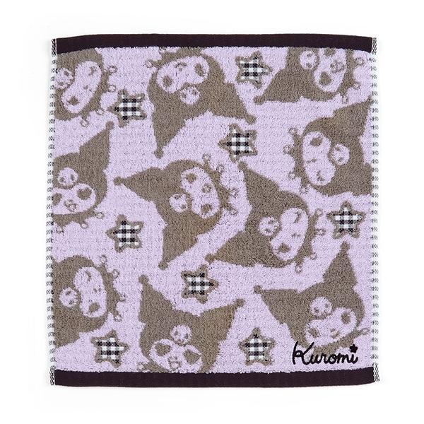 小禮堂 酷洛米 抗菌短毛巾 34x36cm (紫滿版款) 4550337-80141